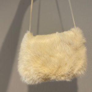 Vintage Fur Muff Hand Warmer Arm Muff 60s Real Fur